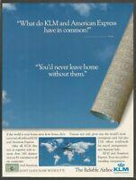 KLM Royal Dutch Airlines - 1983 Vintage Print Ad