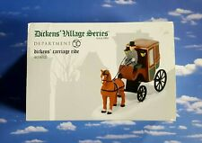 Dept 56 Dickens Village Dickens' Carriage Ride!