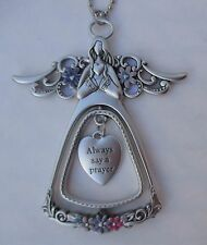 ood Always say a prayer guardian Angel Blessings 3d CAR CHARM Mirror ornament
