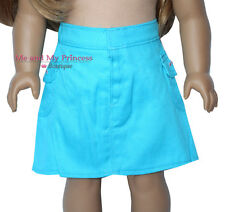 SUMMER TURQUOISE A LINE SKIRT made to fit 18 inch American Girl Doll clothes