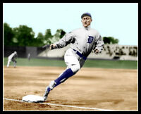 Ty Cobb Photo 8X10 - Detroit Tigers Rounding Third HOF Spikes Colorized