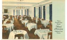 HIGHLAND PARK, ILLINOIS-HOTEL MORAINE-AMSTERDAM ROOM-LINEN-(ILL-HMISC)