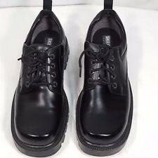 Skechers Men's Shoes Size 12 Black Leather SN 4180 F15 Non Slip Sole EUC Lace Up