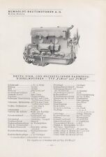 KÖLN-DEUTZ, Typentafel 1935, Humboldt-Deutzmotoren AG Fahrzeug-Diesel-Motoren