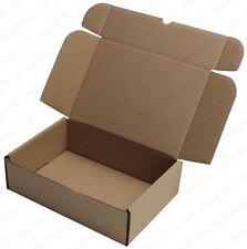 5x Marrón Cajas 25.4cmx 17.8cmx 7.6cm Regalo Tamaño 25cmx 17.5cmx 7.5cm