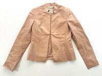 Pauw Amsterdam Pink Silk Taffeta Short Blazer Jacket Size 1 Small Womens