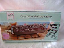 "NEW BAKE 31 cm 12"" CAKE TRAY BAKE & SLICER CUTTER LOOSE BASE & COOLING RACK PMS"