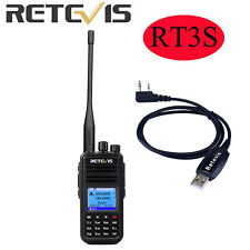 Retevis RT3S Dual Band DMR UHF/VHF Analog Digital 2Way Radio+Programming Cable