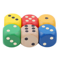 6pcs Colorful Wooden Yard Dice Yard Games Outdoor Fun Toy S