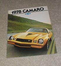 CHEVROLET Camaro BROCHURE 1977 per 1978 ANNO del Modello Z28-rally sport-tipo LT