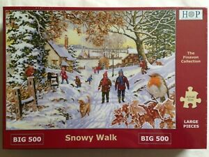 Brand New House of Puzzles BIG500 Large Piece Jigsaw Puzzle - SNOWY WALK