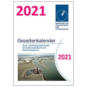 Gezeitenkalender / Tidenkalender 2021 - ISBN 9783869879987