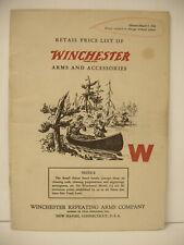 VINTAGE Original 1946 WINCHESTER retail price list rifles shotguns booklet