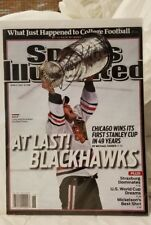 6/21/10 Sports Illustrated Signed Jonathan Towes Black Hawks Tough star sig
