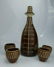 Arabia Finland Tarina Figural Bottle Decanter and Cups c1950s Scandinavian