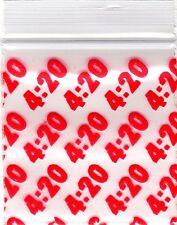 """Ziplock Baggies 2020 Apple 100 Mini ZIPLOCK Bags PRINTED Design 2"""" X 2"""" (4:20)"""