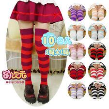 Kawaii Girl 7 Stripes JK School Uniform Over-knee Lengthen Socks Lolita Stocking