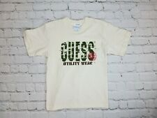 Baby Vintage Guess Usa Utility Wear Brown Spell out - Size Xl Kids Rare