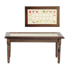 1/12 scale Dolls House Furniture Kitchen Table with Tiled effect top CL10958