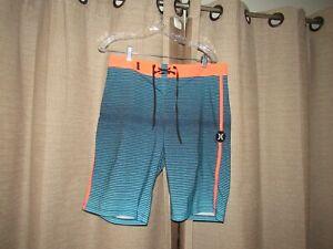 HURLEY Phantom For Buckle Mens Boardshorts Swim Trunks Bathing Suit Sz 30 EUC