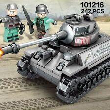 242PCS WW2 Germany Tank Army Toy Building Blocks Military Vehicles Toy Fit Lego
