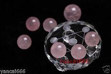 7 star plate nature rose quartz  Crystal Healing Ball Sphere 35MM*7PCS+Stand