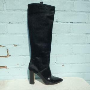 Hobbs Leather Boots Size UK 7 Eur 40 Womens Shoes Pull on Hide Black Boots