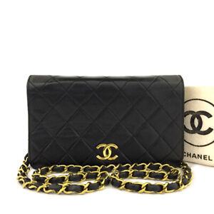 CHANEL Quilted 19 CC Logo Push Lock Lambskin Mini Chain Shoulder Bag/70053