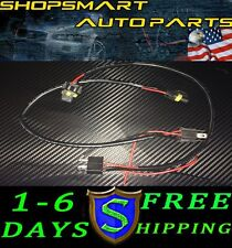 2 X 9003 H4 HB2  HID BALLAST POWER WIRE CABLE HARNESS SINGLE BEAM
