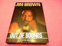 Out of Bounds by Jim Brown - Signed, Autographed - 1989 1st/1st Football NFL HC