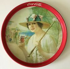 1918 Coke Girls At The Seashore COCA-COLA Drink BEVERAGE Soda METAL Serving TRAY