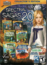 Mystery Masters SPECTRAL SAGAS Hidden Object Collector's Ed 20 PACK PC Game NEW
