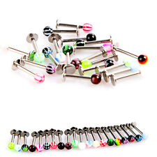 20PCS BALL LIP RINGS LABRET BARS STAINLESS STEEL STUDS BODY PIERCING JEWELRY LOT