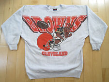 Wicked! 1994 vintage Cleveland Browns taz looney tunes Sweat Shirt Large