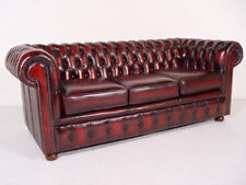 Chesterfield leather three and two seater