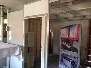 Trennwand, Raumteiler, Trockenbauwand, Octanorm Wandsystem - auch mit Türe