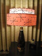 Mid Century Vintage Style 2 Tier Fiberglass Lamp Shade Modern Starburst Retro P2