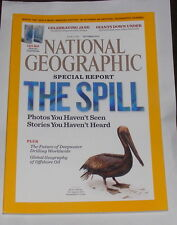 NATIONAL GEOGRAPHIC MAGAZINE OCTOBER 2010 - THE SPILL SPECIAL REPORT
