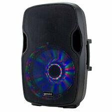 "Gemini AS-15BLU-LT 2000W Active 15"" Speaker LED Lights PA Disco DJ Bluetooth"