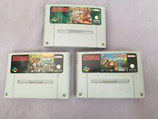 Donkey Kong Country 1 + 2 + 3 - 3 Spiele für Super Nintendo SNES Pal