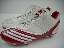 Adidas Scorch Thrill Football Cleats Red White Shoes Lacrosse US SZ 9 UK 8.5 NEW