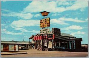 Laramie, Wyoming Postcard GAS LITE MOTEL Roadside Chrome c1960s Unused