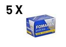 5 X Foma Fomapan Classic 100  135-36 / Pellicola negativo bianco e nero