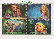 "Tangled Rapunzel Disney 4.5 ""x 3,5"" Republique De Tchad 2014 Mnh Sello sheetlet"