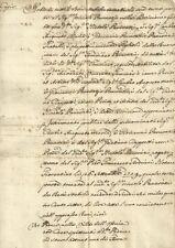 Manoscritto Redatto da Orazio Cappelli sui Beni Mobili Eredità Pancrazi 1710