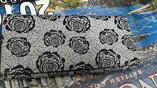 Women Hand clutch, Hand purse, hand bag, black flower design,wallet, wallets