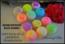 Aromatherapy Bubble Bath Bombs with Coconut Oil GIFT PACK OF 12 Bath Fizzies