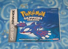 Pokemon Sapphire Version Instruction Booklet Only No Game Nintendo GBA Excellent