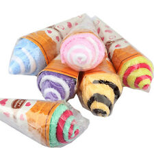 Portable Cute Soft Washing Facial Kids Towel Shaped Ice Cream Gift Favor