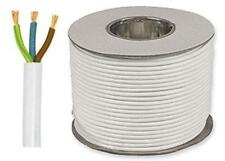 White Round Flexible Cable 2183Y 3 Core 0.75mm 6 Amp 50m Flex Drum OR Coil